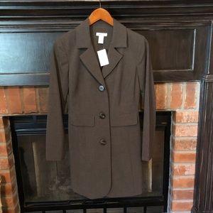 Harold's sz 0 long brown blazer/coat